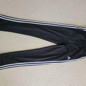 Adidas Button Down Pants Black with White Stripes